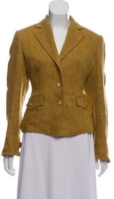 Luciano Barbera Linen Tweed Blazer