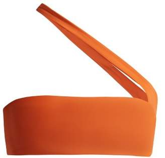 JADE SWIM Halo One Shoulder Bikini Top - Womens - Orange