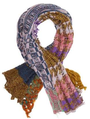 Matty Bovan - Ladder And Chunky Knit Scarf - Womens - Multi