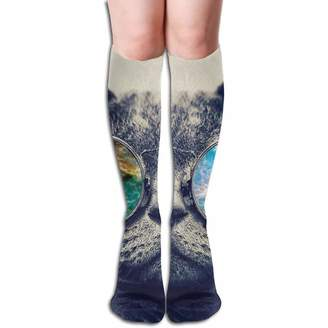 Best & Cashmere Cat Sunglasses Women's Fashion Knee High Socks Casual Socks 50cm