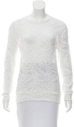 IRO Lace Long Sleeve Top