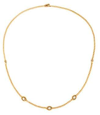 Christian Dior Diamond Twist Rope Choker Necklace