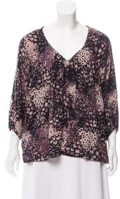 Rebecca Taylor Oversize Silk Blouse