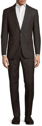 Michael Kors Slim Fit Solid Wool Suit
