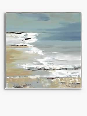John Lewis & Partners Valeria Mravyan - East Coast I Framed Canvas Print, 104.5 x 104.5cm, Blue/Multi