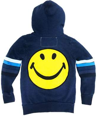 Aviator Nation Kids Smiley Patch Zip Hoodie