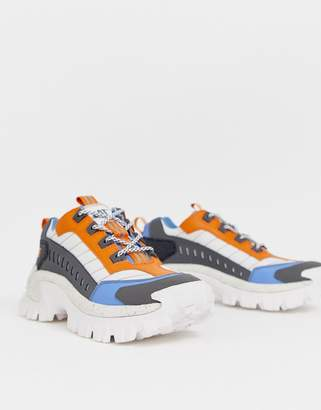 CAT Footwear CAT Intruder chunky sneakers in blue and orange