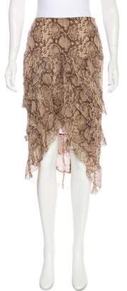 Valentino Printed Silk Skirt
