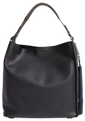 Allsaints 'Pearl' Leather Hobo - Black $398 thestylecure.com