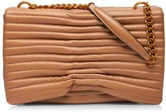 Nissa - Soft Leather Shoulder Bag Camel