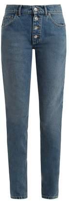 Balenciaga Tube Jeans - Womens - Blue