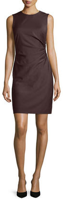 Theory Jorianna Gathered-Side Mini Dress, Dark Purple $395 thestylecure.com