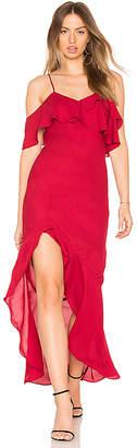 Krisa High Low Ruffle Dress