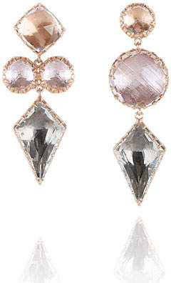 bridesmaid crystal jewelry tear peach party earringsnation from rose drop nation earrings swarovski copy