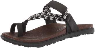 Merrell Women's Around Town Sunvue Thong Woven Flat Sandals