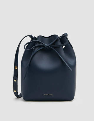 Mansur Gavriel Calf Mini Bucket Bag in Blue
