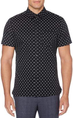 Perry Ellis Big Tall Screw-Print Button-Down Shirt