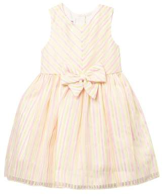 Pippa Pastourelle by and Julie Pink And Yellow Striped Dress (Toddler & Little Girls)