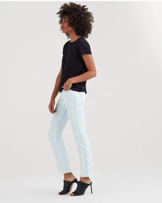 7 For All Mankind Edie With Destroy And Cut Off Hem In Desert Sun Bleached