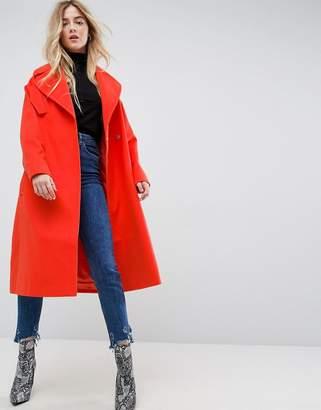 Asos Design Oversized Coat with Pocket Detail