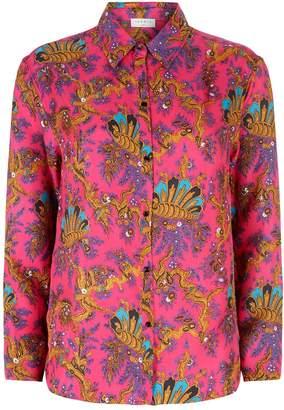 Sandro Patterned Silk Shirt