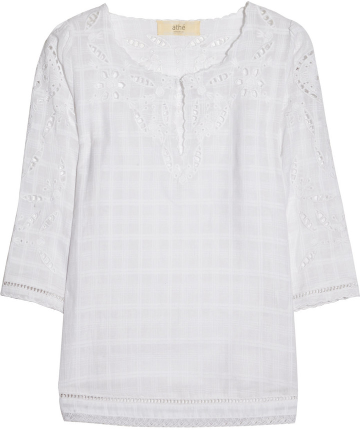 Vanessa Bruno Broderie anglaise cotton top