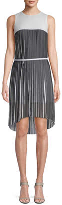 Armani Exchange Pleated High-Low Dress