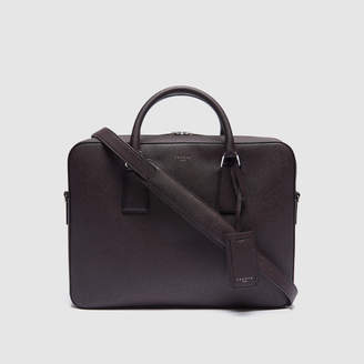 Sandro Large Saffiano leather briefcase