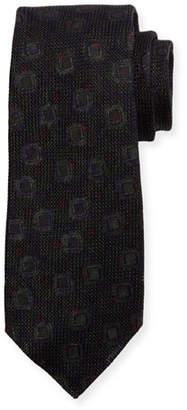 Kiton Grenadine Woven Silk Tie, Brown