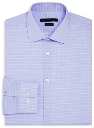John Varvatos Grid Regular Fit Stretch Dress Shirt