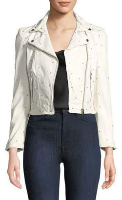 Moto LaMarque Piper Studded Lamb Leather Jacket