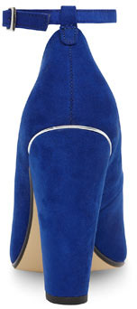 Dorothy Perkins Cobalt ankle strap high court