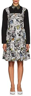 Prada Women's Comic-Print Cotton Minidress
