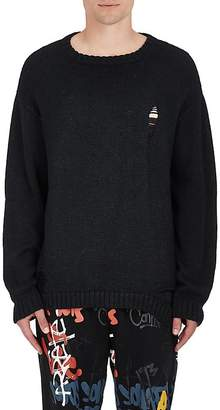 Stampd MEN'S DISTRESSED ALPACA-BLEND OVERSIZED SWEATER