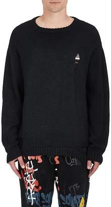 Stampd Men's Distressed Alpaca-Blend Oversized Sweater