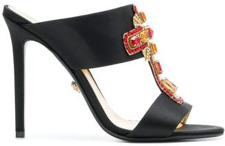 Versace embellished cross mules