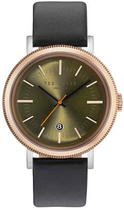 Ted Baker Connor Leather Strap Watch, 42mm
