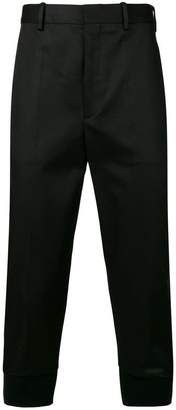 Neil Barrett cropped high waisted trousers