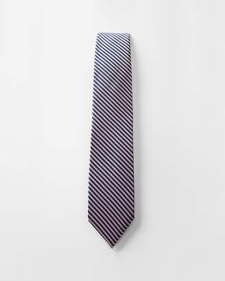 Express Striped Narrow Silk Tie