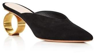 Loeffler Randall Women's Juno Pointed Toe Round Heel Mules