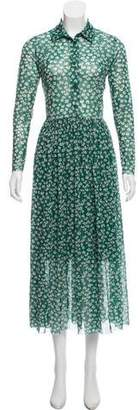 Ganni Long Sleeve Maxi Dress
