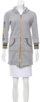 Galliano Embellished Zip-Up Sweatshirt