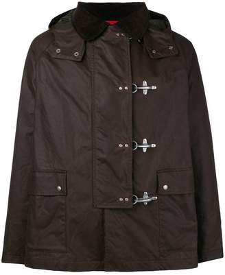 Fay toggle fastening hooded jacket