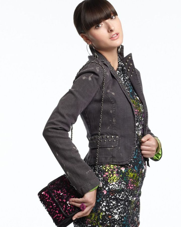 Rachel Rachel Roy Jacket, Studded Denim