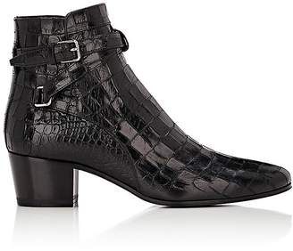 Saint Laurent Women's Blake Leather Jodhpur Boots