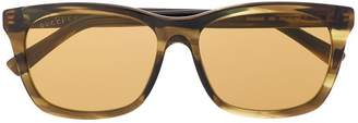 Gucci tonal tinted square sunglasses
