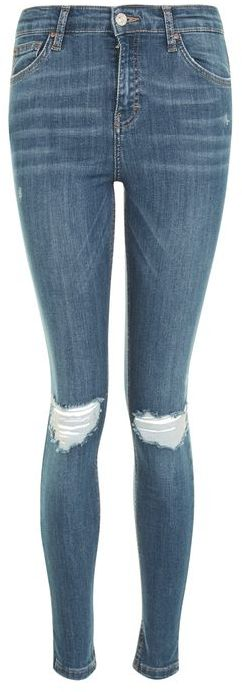 Topshop Topshop Moto authentic blue rip jamie jeans