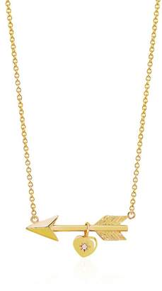 Johnny Was 14K Gold Love Struck Arrow Necklace