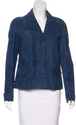Burberry Suede Notch-Lapel Jacket w/ Tags