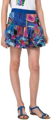 Desigual Printed Ruffle Skirt